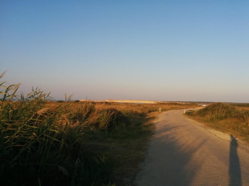 From Eselek to kitesurfing beach.