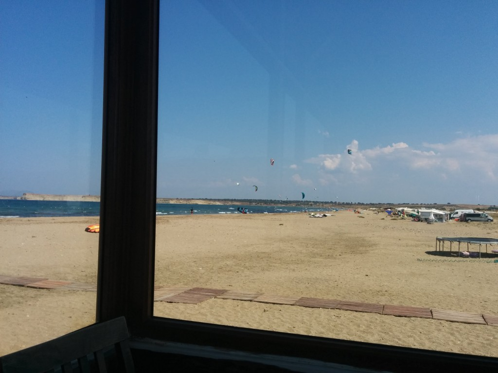 View from Volkite, where I sit with my laptop especially when there is no wind.