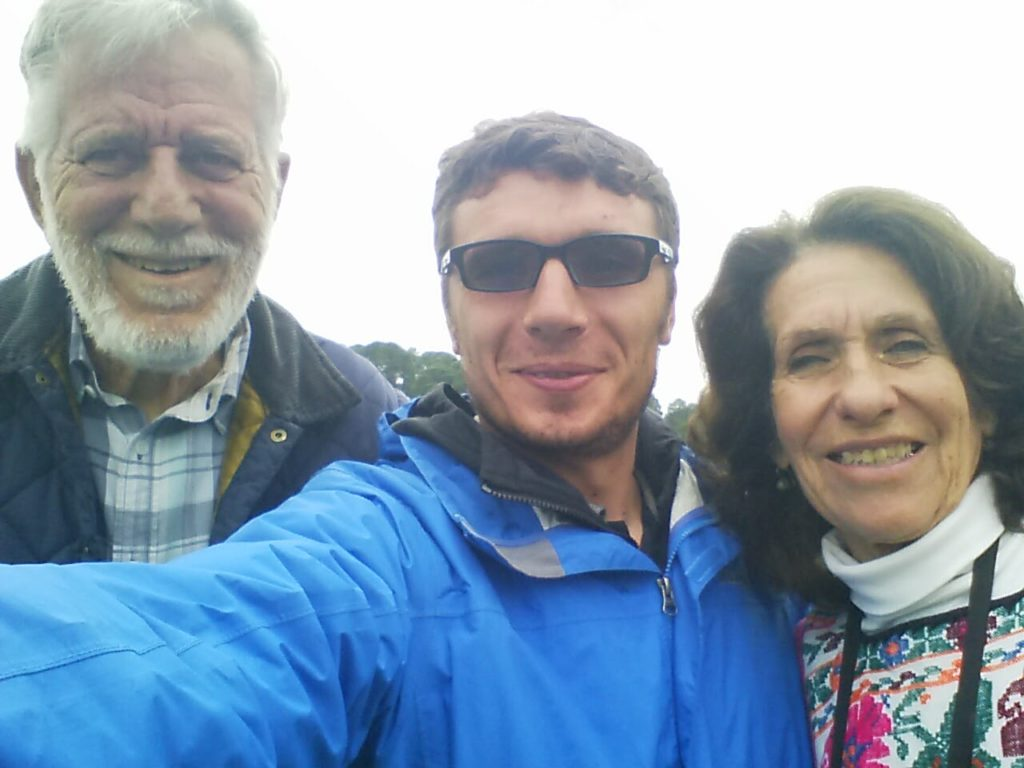 With Oscar and Doris, at UMA in Valle de Bravo